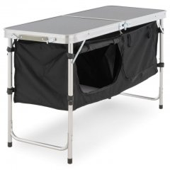 Multifunkčný skladací kempingový stôl - 2 úložné boxy
