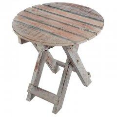 Skladací stolík DIVERO Vintage - 31 cm