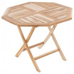 DIVERO záhradný sklopný osemhranný stôl - 90 x 90 cm