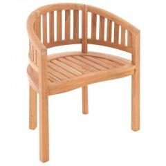 DIVERO židle - ošetřený teak