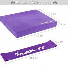 Balanční polštář s gymnastickou gumou - fialová