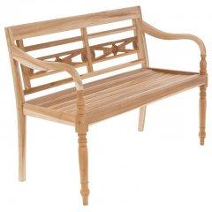 DIVERO Záhradná drevená lavička - 119 cm