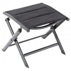 Sklopná hliníková stolička - čierna, tmavosivý rám