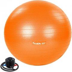 MOVIT Gymnastická lopta s nožnou pumpou, 85 cm, oranžová