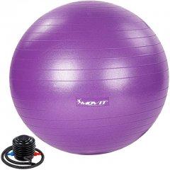 MOVIT Gymnastický míč s nožní pumpou, 85 cm, fialový