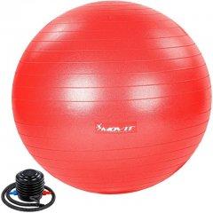 MOVIT Gymnastická lopta s nožnou pumpou, 85 cm, červená