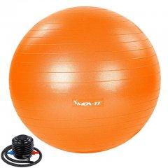 MOVIT Gymnastická lopta s nožnou pumpou, 75 cm, oranžová