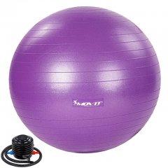 MOVIT Gymnastická lopta s nožnou pumpou, 75 cm, fialová