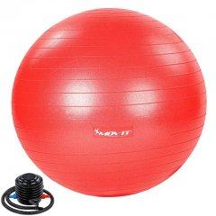 MOVIT Gymnastická lopta s nožnou pumpou, 75 cm, červená