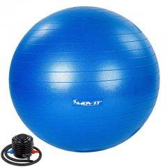MOVIT Gymnastická lopta s nožnou pumpou, 75 cm, modrá