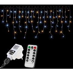 VOLTRONIC svetelný dážď - 400 LED, teplá/studená biela