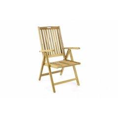Záhradná skladacia stolička drevená DIVERO