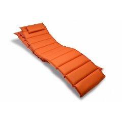 Sada 2 kusov polstrovania na lehátko Garthen - oranžová