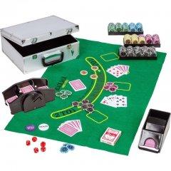 Poker set, 300 žetónov + miešačka kariet