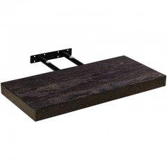 STILISTA Nástěnná police Volato, tmavé dřevo, 100 cm