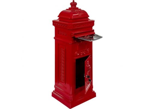 Poštová schránka starožitná antik - červená