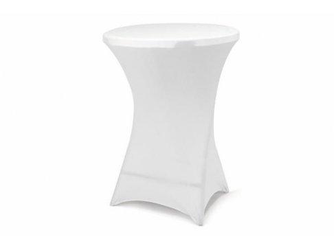 Poťah pre vysoký stôl - elastický, biely 80 x 80 x 110 cm
