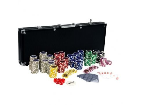 Pokerový set, 500 žetónov Ultimate black