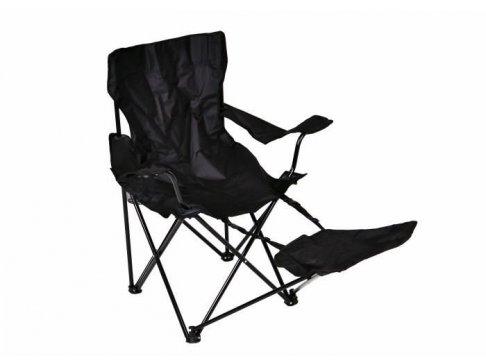 Skladacia stolička Garth s područkami a opierkou na nohy