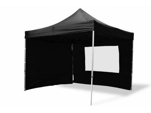 Záhradný párty stan nožnicový PROFI 3x3 m čierny + 4 bočné steny