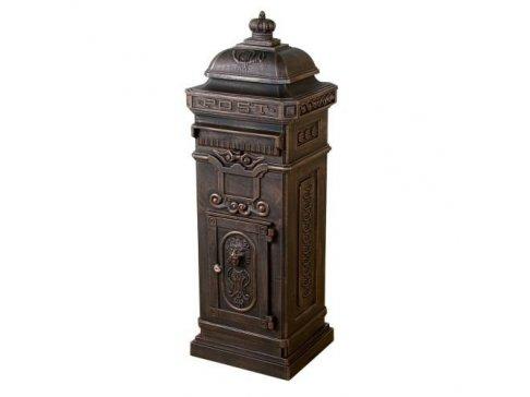 Dekoratívna poštová schránka antik - tmavá mosadz