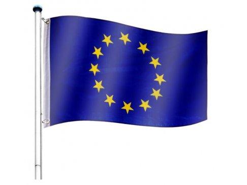 Vlajkový stožár vč. vlajky Evropská unie - 650 cm