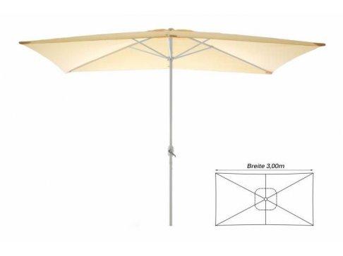 Záhradný slnečník - obdĺžnikový 2 x 3 m - champagne