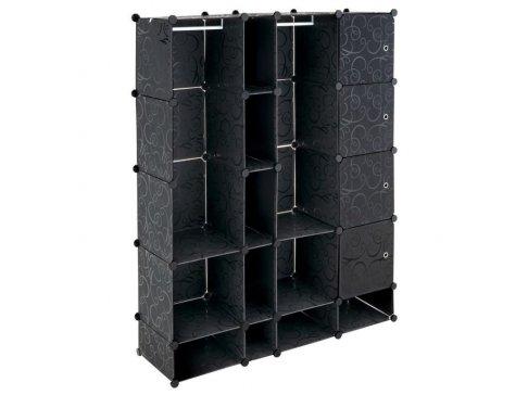 Černý regál - zásuvný systém