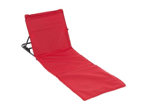 Nastavitelná plážová podložka s opěrkou - červená