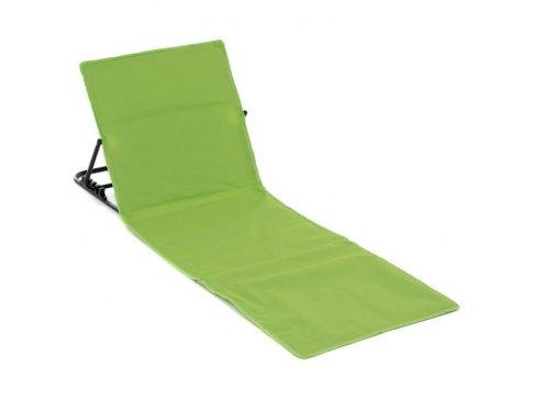 Nastavitelná plážová podložka s opěrkou - zelená