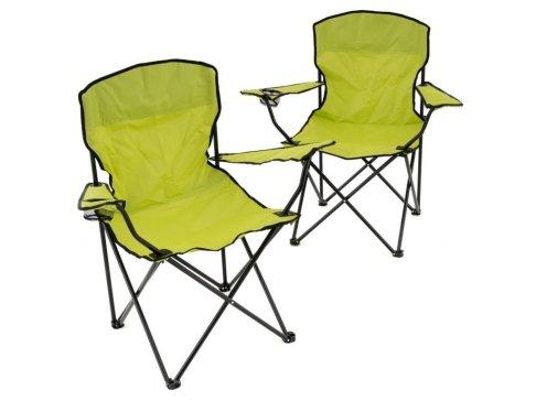 Sada 2 ks skladacích stoličiek - svetlozelené