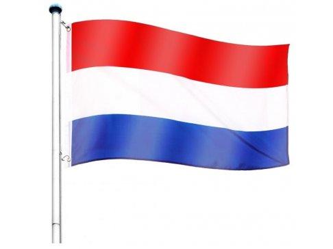 Vlajkový stožiar vrátane vlajky Holandsko - 650 cm