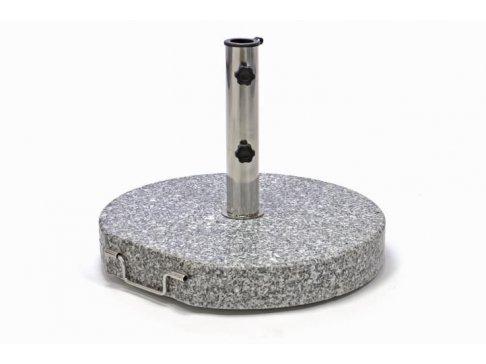 Stojan na slnečník (kruhový) - žula / nerezová oceľ, 40 kg