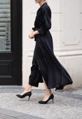 Černé košilové šaty z hedvábné směsi