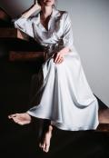 Bílé košilové šaty z hedvábné směsi