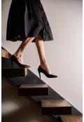 Černá zavinovací sukně z hedvábné směsi