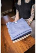 Šedo-modrá bavlněná mikina