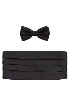 Frakový pás a motýlek Set bow tie+cumm.