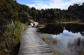 Mini stezka po mole kolem jezera Wilkie