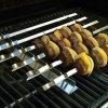 Steven Raichlen Best of Barbecue Nerezová sada na kebab se 6 plochými špízy