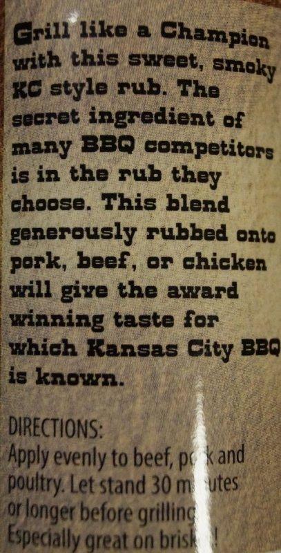 BBQ koření KC Butt Spice, 176 g