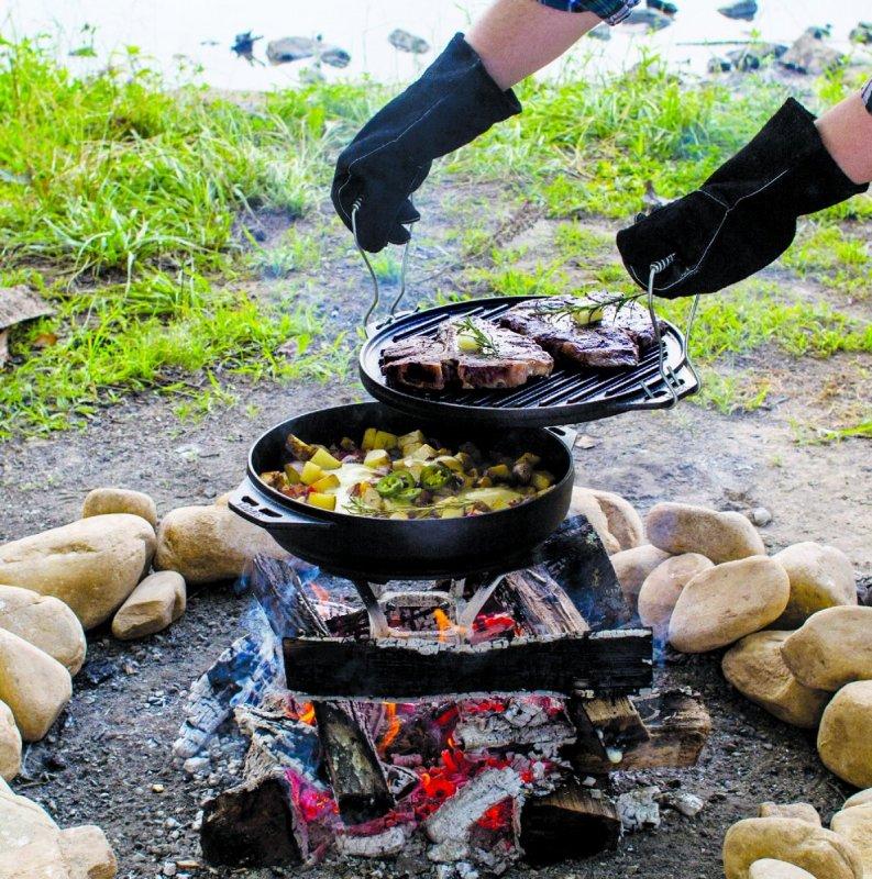 """Dvoudílná litinová multifunkce Lodge """"Cook-It-All"""""""