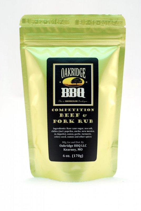 BBQ koření Oakridge BBQ 'Competition' Beef & Pork, 170 g
