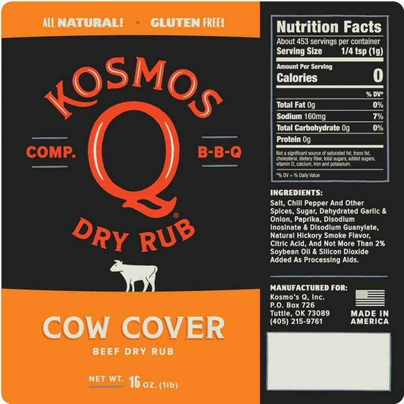 BBQ koření Kosmo´s Q Cow Cover, 297 g