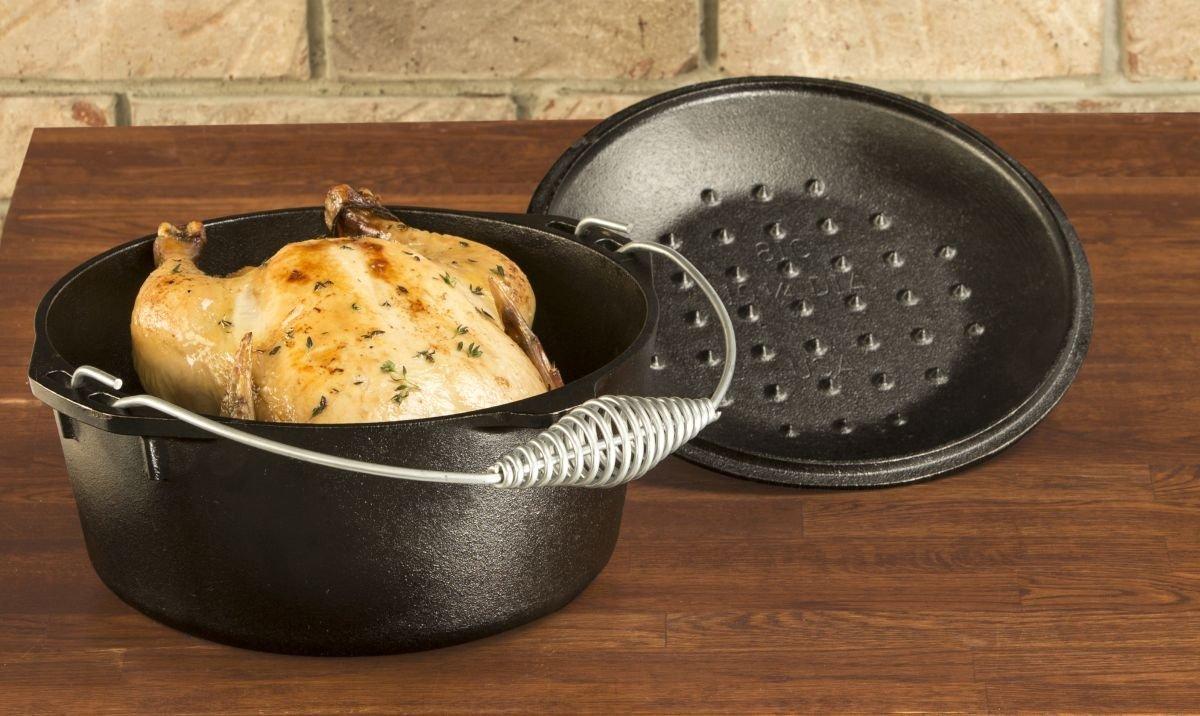 Litinový hrnec s madlem a poklicí Lodge 4,7l (Dutch oven)