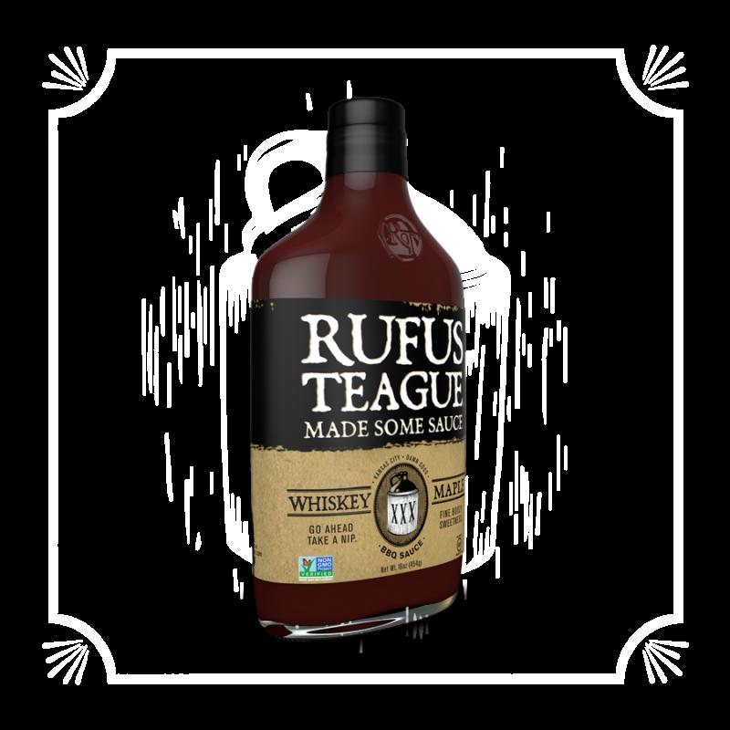 BBQ omáčka Rufus Teague Whiskey Maple, 432 g