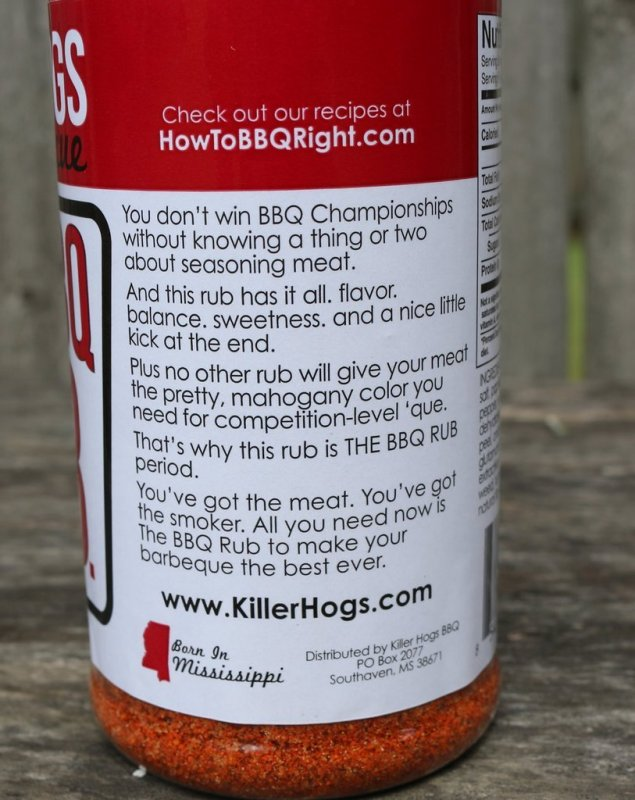 "Killer Hogs ""The BBQ Rub"" 340g"