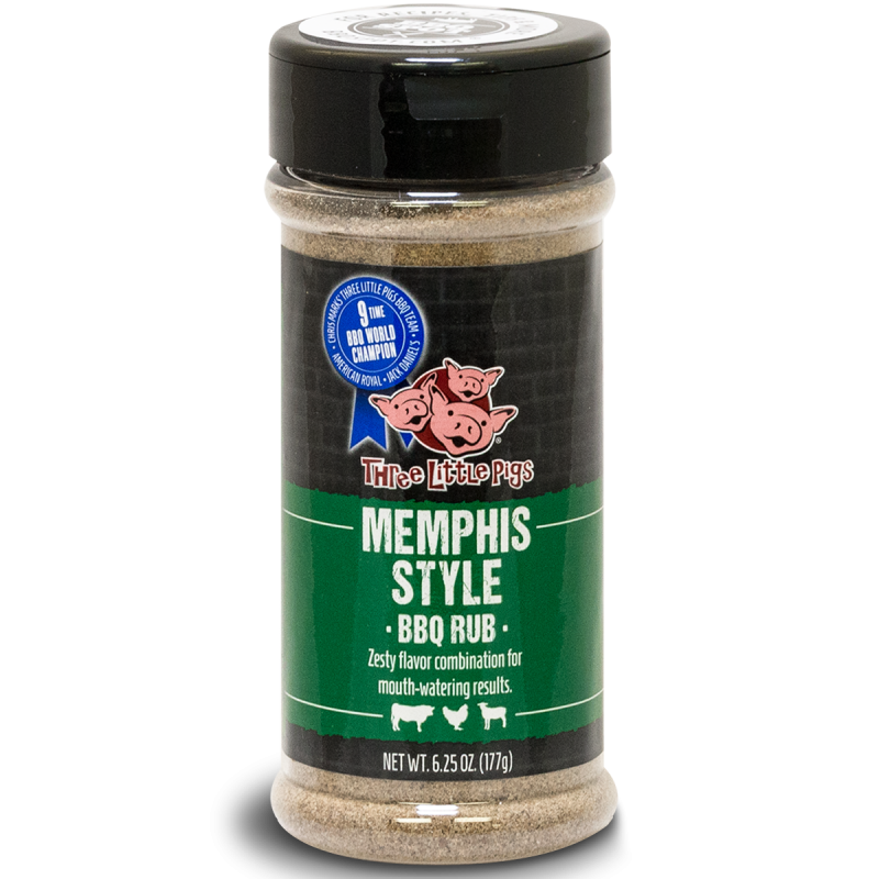 "Three Little Pigs BBQ ""Memphis-Style BBQ Rub"" 177g"