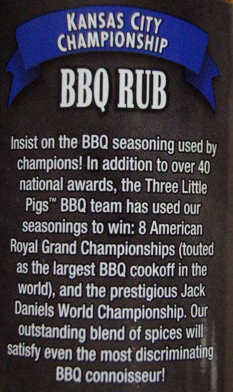 """BBQ koření Three Little Pigs """"KC Championship"""", 184 g"""