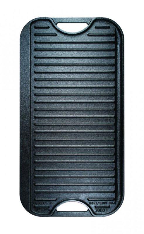 Oboustranný obdelníkový litinový tál/gridl Lodge 51 x 27 cm